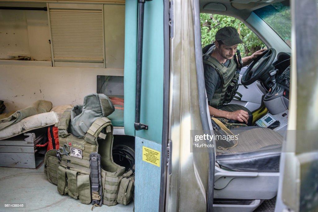 Ukraine Front Line - Portrait : Nachrichtenfoto