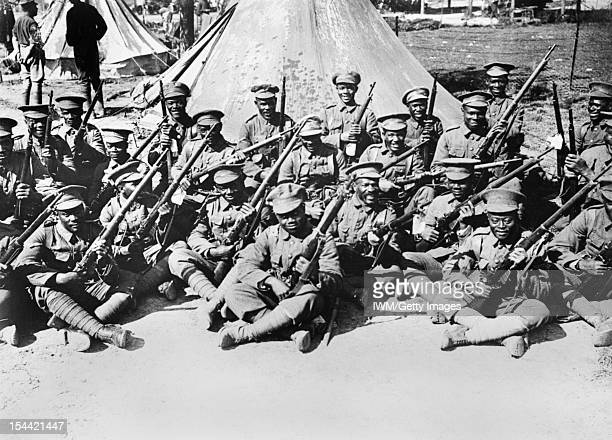 Ministry Of Information First World War Official Collection The British West Indies Regiment in camp on the Albert Amiens Road September 1916