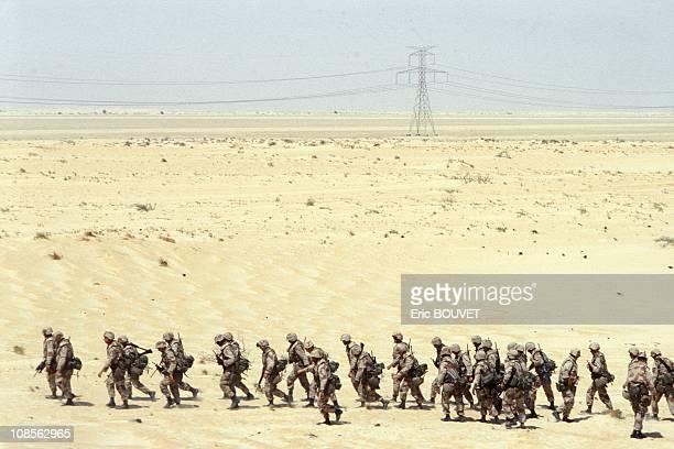 US soldiers on Dahran airport in Saudi Arabia n August 23rd 1990