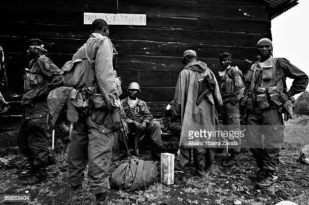 soldiers on the frontline in Kibati