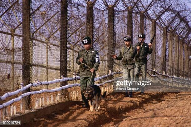 Soldiers Patrolling South Korean Border