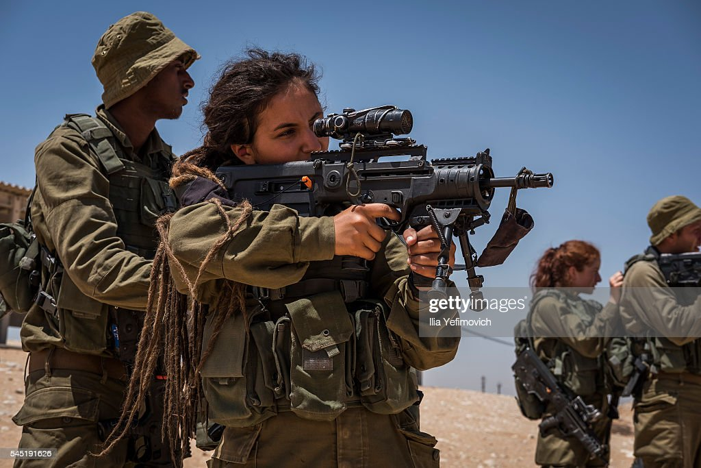 IDF's Mostly Female Combat Unit Attend Training Day in Azuz : News Photo