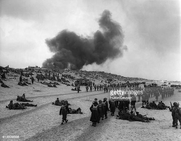 Soldiers Re-Enacting The Dunkirk Excavation