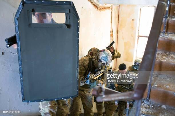 Soldiers sneaking