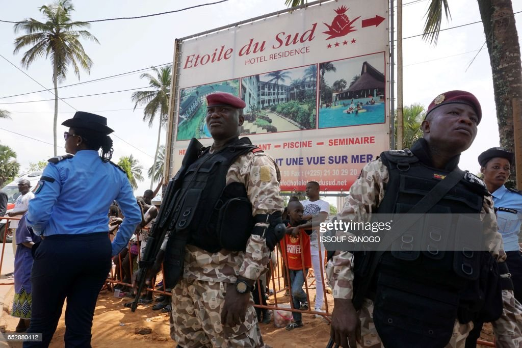 Soldiers Stand Near The Hotel Etoile Du Sud On March 13