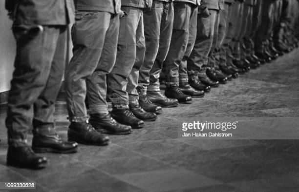 soldiers standing in a row - army training stock pictures, royalty-free photos & images