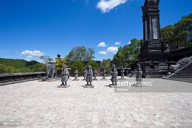Soldiers statues at Khai Dinh Emperor's Mausoleum, Hue, Vietnam