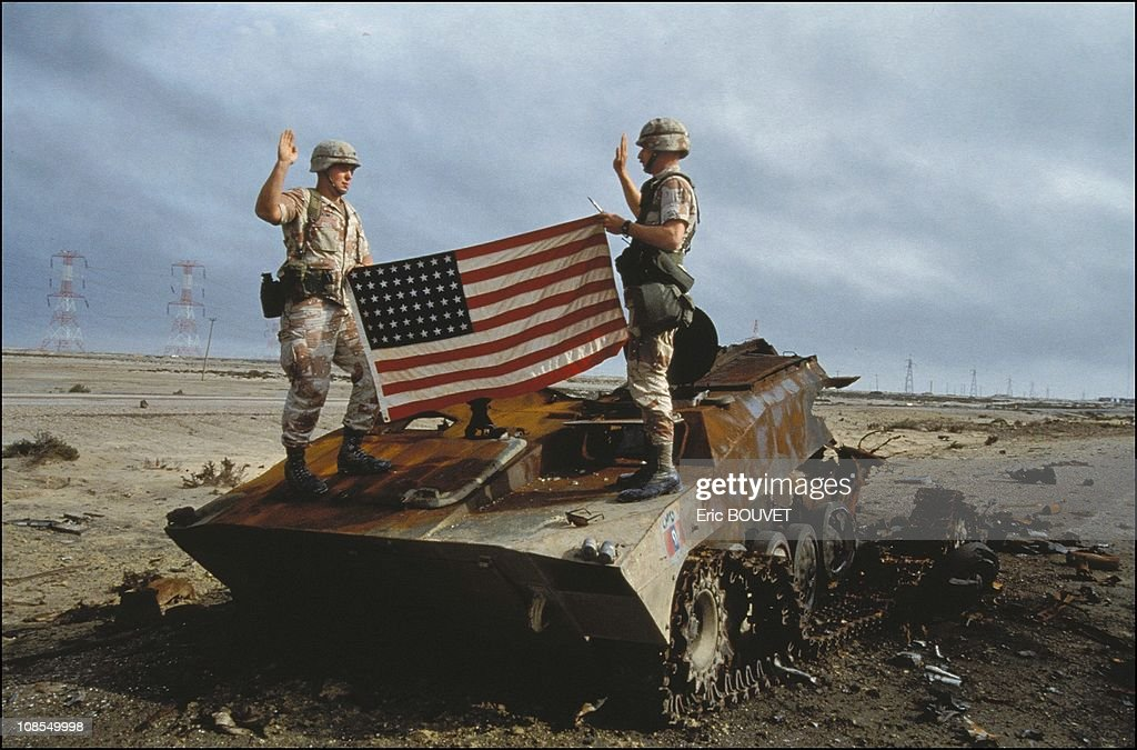 Gulf War in Iraq in February, 1991. : News Photo