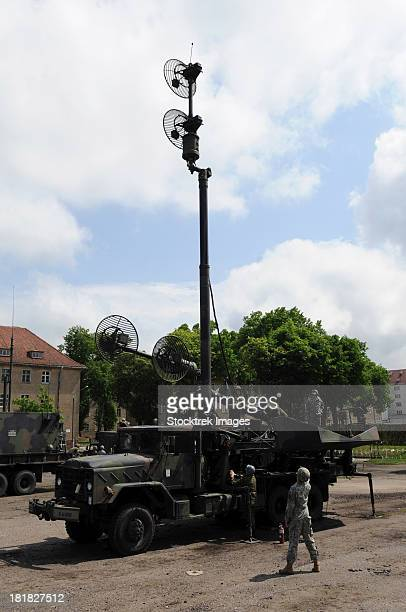 U.S. Soldiers teach the Polish military how to use the Patriot missile system.