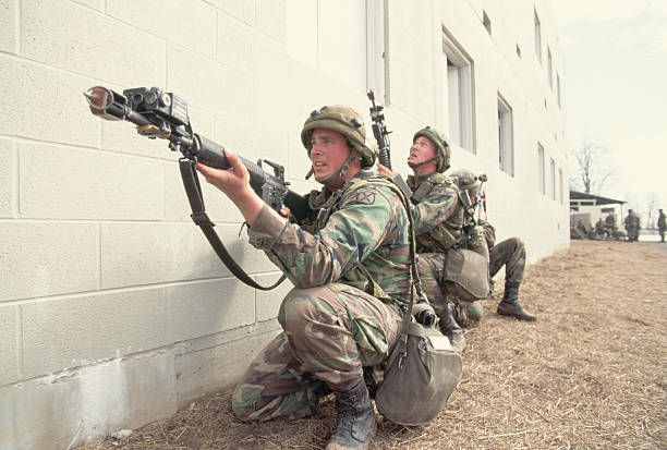 Soldiers Training for Urban Combat