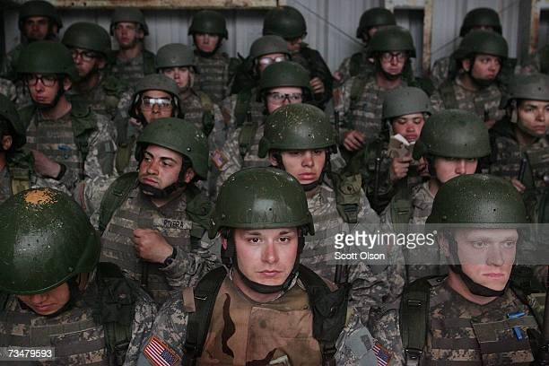 Soldiers wait out the rain at the rifle range during Army basic training at Fort Jackson March 1 2007 in Columbia South Carolina In 2006 the Army...
