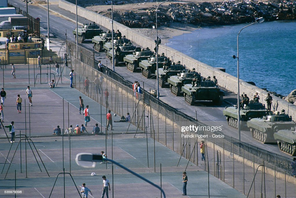 Military Presence in Algiers : News Photo