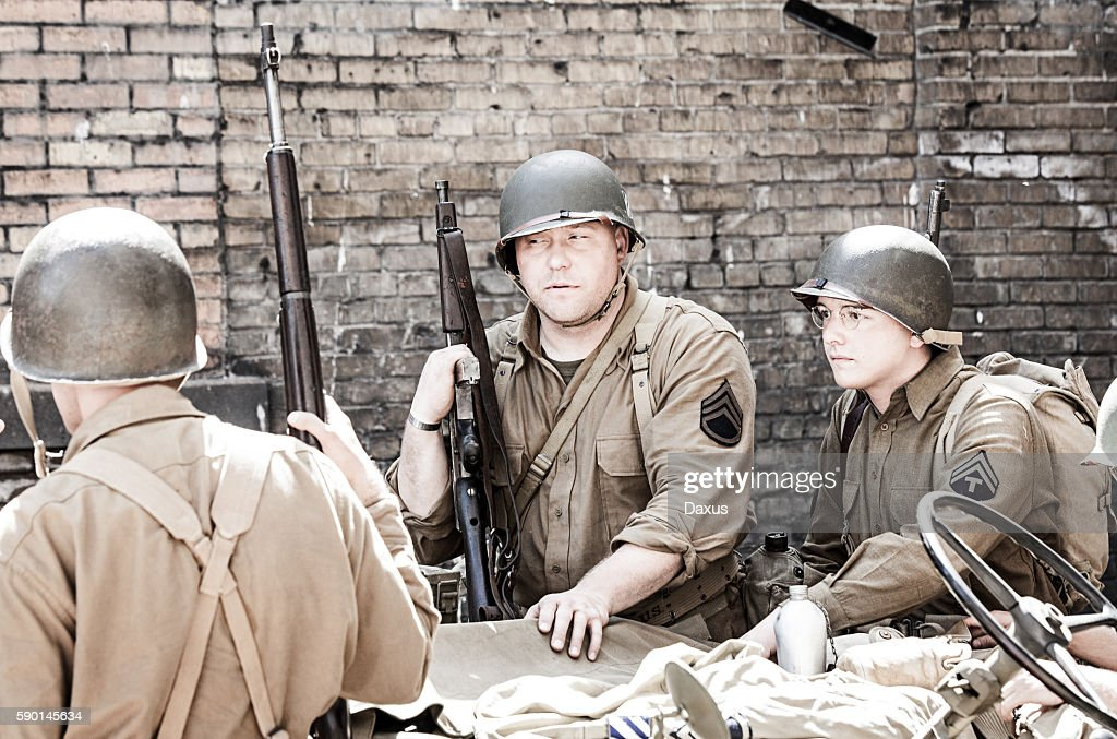 Soldiers WWII : Stock Photo