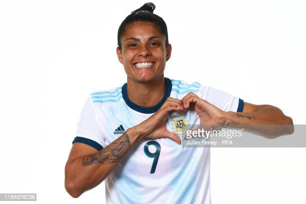 Sole Jaimes of Argentina poses for a portrait during the official FIFA Women's World Cup 2019 portrait session at Melia Paris La Defense on June 06...