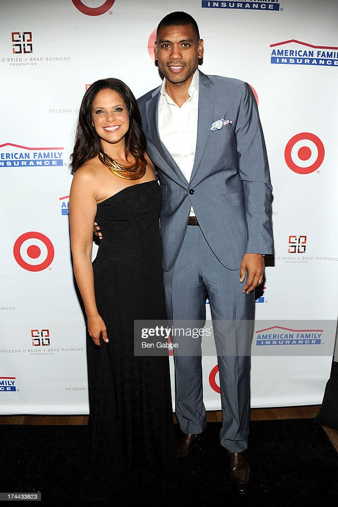 Soledad O'Brien (L) and Allan Houston attend New Orleans To New York City Benefit Gala at Donna Karen's Stephen Weiss Studio on July 25, 2013 in New York City.