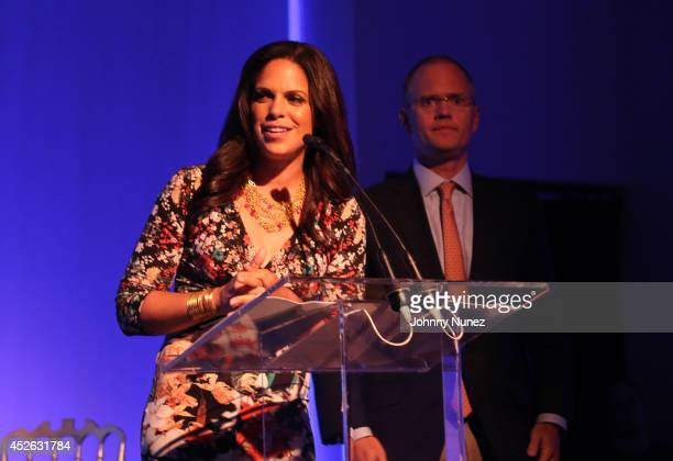 Soledad O'Brien and Brad Raymond speak at Soledad O'Brien Brad Raymond Starfish Foundation 4th Annual New Orleans To New York City Gala at Espace on...