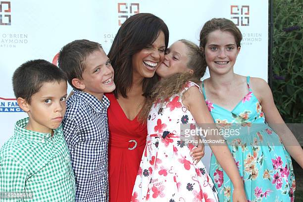 Soledad O'Brien and her children Charlie Raymond Jackson Raymond Cecilia Raymond and Sofia Raymond attend the 2nd annual New Orleans in the Hamptons...