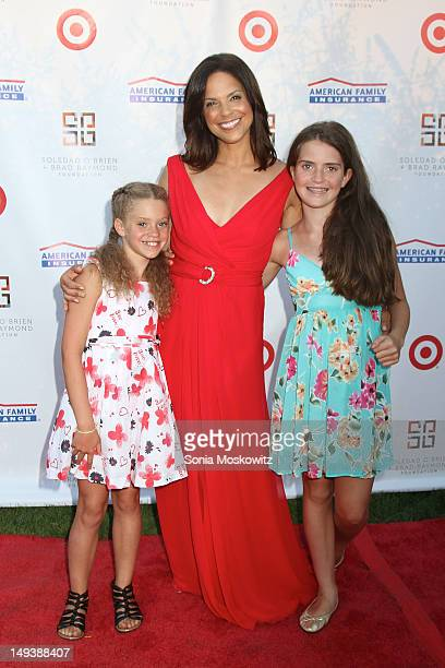 Soledad O'Brien and her daughters Cecilia Raymond and Sofia Raymond attend the 2nd annual New Orleans in the Hamptons Benefit gala on July 27 2012 in...