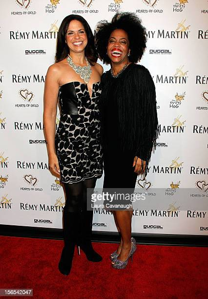 Soledad O'Brien and Rhonda Ross attend the Hearts of Gold 16th annual Fall Fundraising gala and fashion show at Metropolitan Pavilion on November 16...