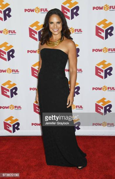 Soledad O'Brien attends the PowHERful Benefit Gala on June 13 2018 at Tribeca Rooftop in New York City