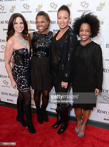 Soledad O'Brien Debra Koenigsberger Tamara Tunie and Rhonda Ross attend the 16th Annual Hearts of Gold 16th Annual Fall Fundraising Gala and Fashion...