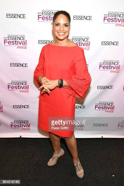 Soledad O'Brien poses backstage at the 2017 ESSENCE Festival presented by CocaCola at Ernest N Morial Convention Center on June 30 2017 in New...