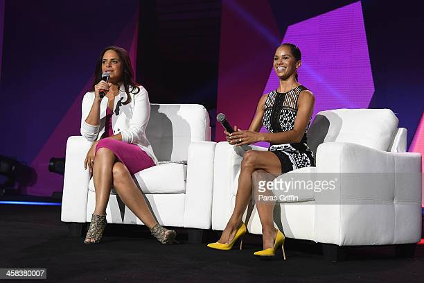 Soledad O'Brien speaks onstage with Ballet dancer Misty Copeland during the 2016 ESSENCE Festival presented By CocaCola at Ernest N Morial Convention...