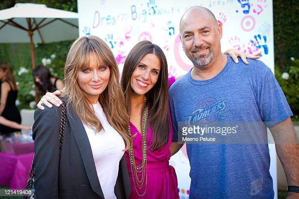 Soleil Moon Frye and Adam Venit with his wife of Endeavor Agency pose at Soleil Moon Frye's 'Happy Chaos' Book Launch Party Sponsored by Target on...