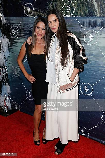 Soleil Moon Frye and Demi Moore attend the Seedling Launch Party at Seedling Headquarters on May 28, 2015 in Los Angeles, California.