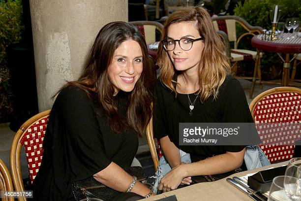 Soleil Moon Frye and Kelly Oxford attend Jennifer Meyer for the Zoe Report Dinner at Chateau Marmont on June 18 2014 in Los Angeles California