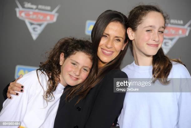 "Soleil Moon Frye, daughters Jagger Joseph Blue Goldberg and Poet Sienna Rose Goldberg arrive at the premiere of Disney And Pixar's ""Cars 3"" at..."