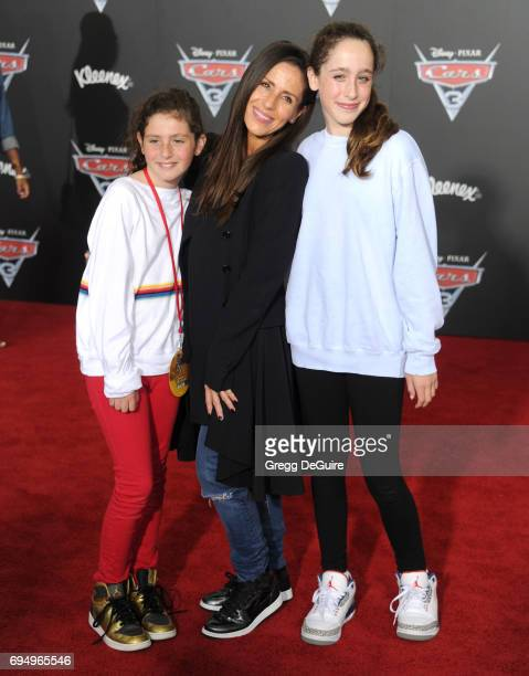 Soleil Moon Frye daughters Jagger Joseph Blue Goldberg and Poet Sienna Rose Goldberg arrive at the premiere of Disney And Pixar's 'Cars 3' at Anaheim...
