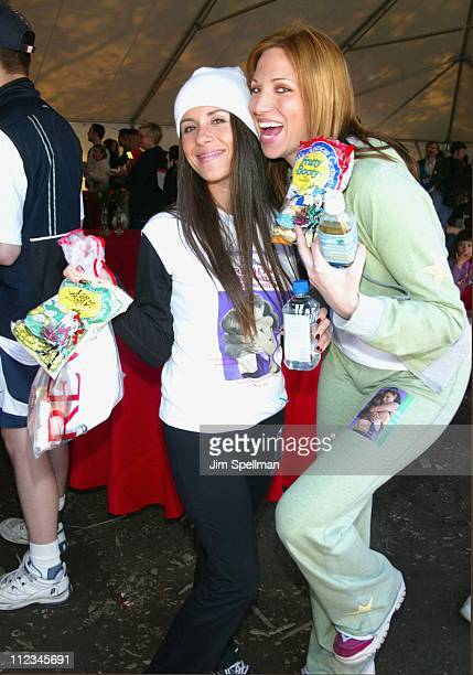 Soleil Moon Frye Deborah Gibson clown around during 5th Annual New York Revlon Run/Walk for Women to Raise Funds for Women's Cancer Research...