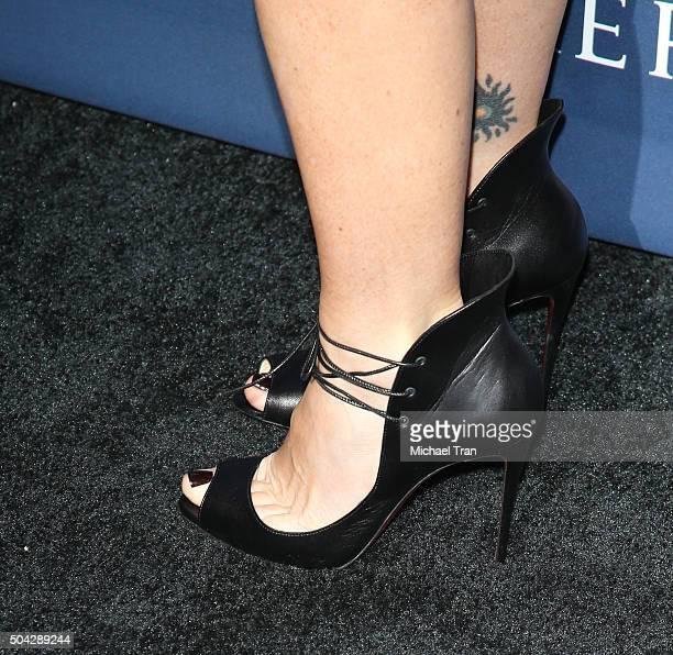 Soleil Moon Frye shoe and tattoo detail arrives at the 5th Annual Sean Penn Friends 'HELP HAITI HOME' gala benefiting J/P Haitian Relief Organization...