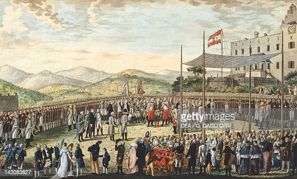Solemn blessing of the city flag and of the free port of Trieste Italy 19th century