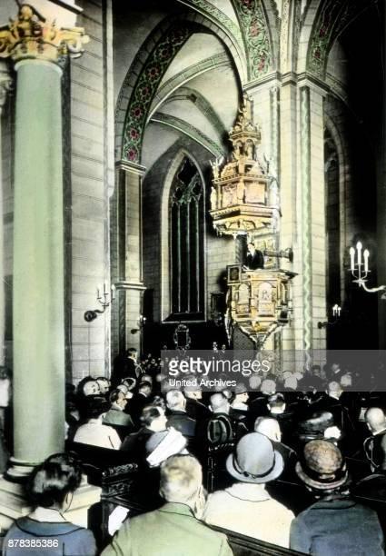 Solemn sermon at a prayer service of the Gustav Adolf association.
