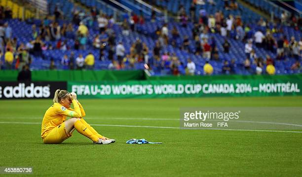 Solene Durand goalkeeper of France looks dejected after the FIFA U20 Women's World Cup 2014 semi final match between Germany and France at Olympic...