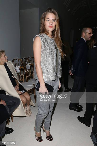 Solene Hebert attends the Giambattista Valli show as part of Paris Fashion Week Haute Couture Spring/Summer 2014 on January 20 2014 in Paris France