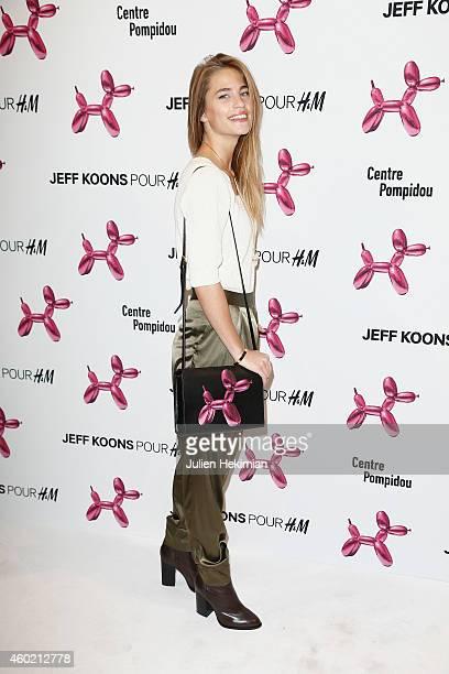 Solene Hebert attends the Jeff Koons For HM Handbag Presentation a Cocktail Event at Centre Pompidou on December 9 2014 in Paris France