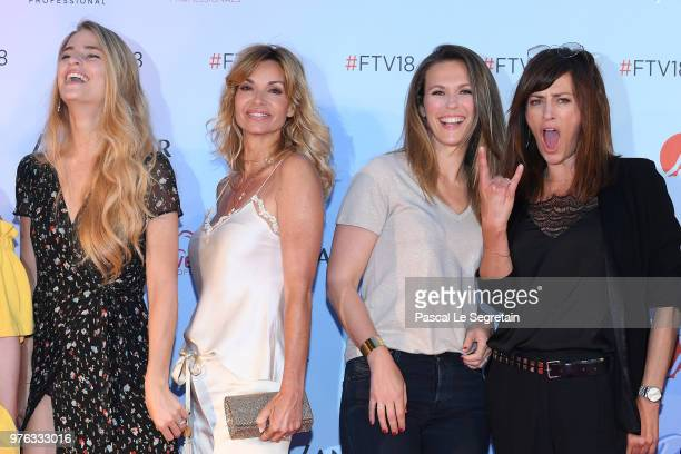Solene HebertIngrid Chauvin Lorie Pester and Anne Caillon attend Soiree Serie TV during the 58th Monte Carlo TV Festival on June 16 2018 in...