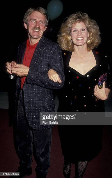J Soles and husband Skip Holm attend the premiere of Prince of Darkness on October 21 1987 at the Cinerama Dome Theater in Universal City California