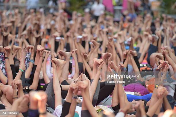 Soles rise to the heavens in Times Square The 14th annual Solstice in Times Square Mind Over Madness Yoga marked 2016's longest day with nearly a...