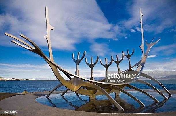 Solfar Suncraft Sculpture by Jon Gunnar Arnason