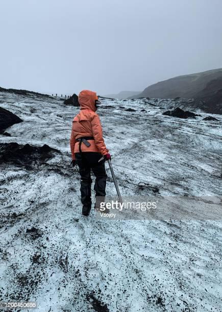 solheimajökull glacier walk vii, southern iceland - vsojoy stock pictures, royalty-free photos & images