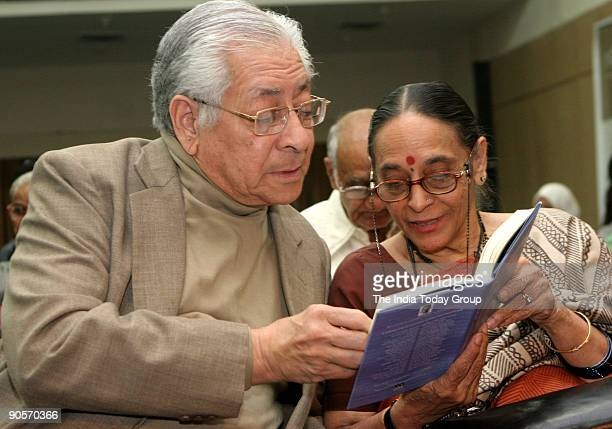 Soli Sorabjee former Attorney General of India and Leila Seth mother of Vikram Seth read out some line of a book titled 'A Poem for CRY' which was...