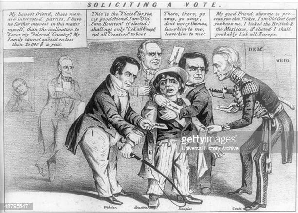 Soliciting a vote 1852 cynical view of party competition for the working man's vote in the presidential campaign of 1852 In a polling place four...
