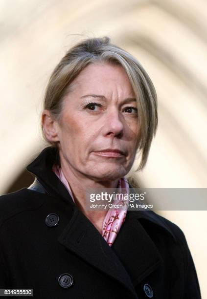 Solicitor AnneMarie Hutchinson stands outside the Royal Courts of Justice in central London where her client Humayra Abedin had won an order earlier...