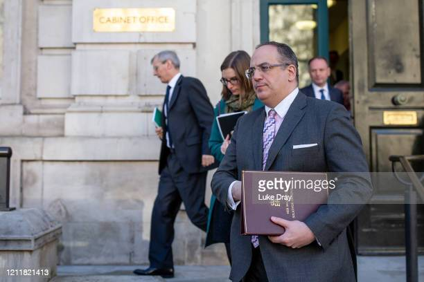 Solicitor General, Michael Ellis, leaves The Cabinet Office on March 11, 2020 in London, England. The World Health Organisation today declared the...