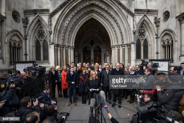 A solicitor representing family members and survivors of the Tunisia terror attack speaks to the media following the conclusion of the inquest at...