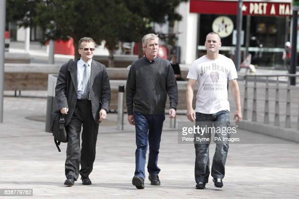 solicitor Robin Makin Jimmy Bulger and Ralph Bulger the uncle of father of James Bulger arrive at Liverpool Crown Court to make a victim personal...